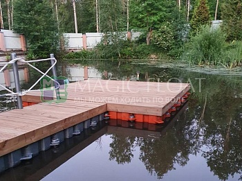 Private jetty with decking